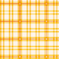 Cloth with orange pattern on the table Stock Photo
