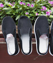 Cloth shoes Royalty Free Stock Images