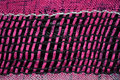 Cloth weave texture photo of a woven Stock Image