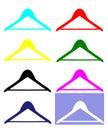 Clothe hangers Royalty Free Stock Photo