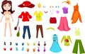 Clothers set illustration of a colorful Stock Photos