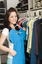 Clothes in closet Royalty Free Stock Photo