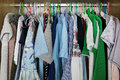 clothes hang in closet Royalty Free Stock Photo