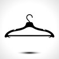 Clothes hanger icon Royalty Free Stock Photo