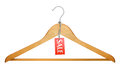 Clothes Hanger with sale tag Royalty Free Stock Photo