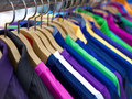 Clothes on hangers Royalty Free Stock Images
