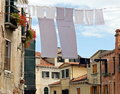 Clothes hanging out to dry Royalty Free Stock Image