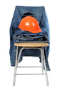 Clothes and helmet Royalty Free Stock Photo