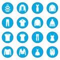 Clothes icon blue