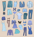 Clothes icons Stock Photo