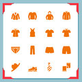 Clothes icons | In a frame series Royalty Free Stock Image