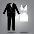 Clothes illustration for both sexes vector design Royalty Free Stock Image