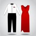 Clothes illustration for both sexes vector design Stock Photos