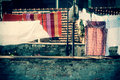 Clothes on line Stock Image