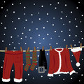 Clothes line for a Santa suit Royalty Free Stock Photography