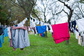 Clothes line Royalty Free Stock Photo