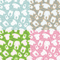 Clothes for newborn baby.Seamless pattern set Royalty Free Stock Photo