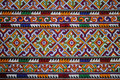 THE CLOTHES AND PANTS HAND MADE BY WOMAN MIEN HILL TRIBE. Royalty Free Stock Photo