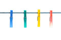 Clothes-pegs Royalty Free Stock Photo