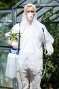 Clothes protecting from harmful spraying vertical view of Royalty Free Stock Photography