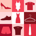Clothes set isolated objects vector illustration eps Royalty Free Stock Photo