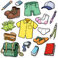 Clothes set vector illustration of Royalty Free Stock Photography