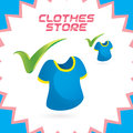 Clothes shop icon vector glossy button sign symbol logo Stock Image