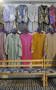 Clothes shop in medina of Fes,Morocco Royalty Free Stock Images