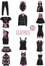 Clothes silhouettes 2 Royalty Free Stock Photo