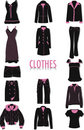 Clothes silhouettes Royalty Free Stock Photo