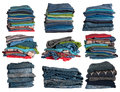 Clothes stacks Stock Photography
