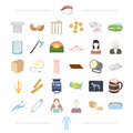 Clothes, theater, food and other web icon in cartoon style.age, appearance, weather, atelier icons in set collection. Royalty Free Stock Photo