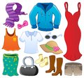 Clothes theme collection 1 Royalty Free Stock Photo