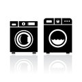 Clothes washer icon Royalty Free Stock Photo