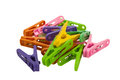 Clothespin clips on isolated white background Royalty Free Stock Image