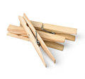 Clothespin isolated on white with clipping path Royalty Free Stock Photos