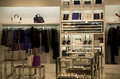 Clothing and accessories store a selling luxury in a mall Stock Photos