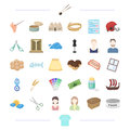 Clothing, appearance, atelier and other web icon in cartoon style. theater, weather, typedography icons in set