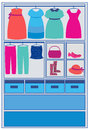 Clothing in closet Stock Image