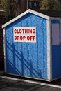Clothing drop off box for charity donation Stock Images