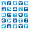 Clothing and Fashion collection icons Royalty Free Stock Photo