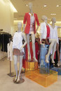 Clothing fashion mannequins Stock Photo