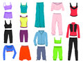 Clothing for fitness set of womens yoga and Royalty Free Stock Image