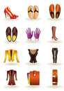 Clothing and footwear of leather Royalty Free Stock Photo