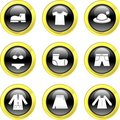 Clothing icons Stock Images