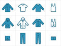 Clothing icons set 1 Royalty Free Stock Photos