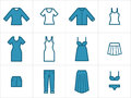 Clothing icons set 2 Royalty Free Stock Images