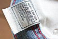 The clothing label close up view of Royalty Free Stock Photo