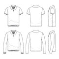 Clothing set of male golf polo shirt.
