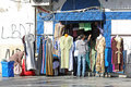 Clothing store in medina tunis tunisia september th a full of typical tunisian clothes the famous marketplace of tunis tunisia Stock Image